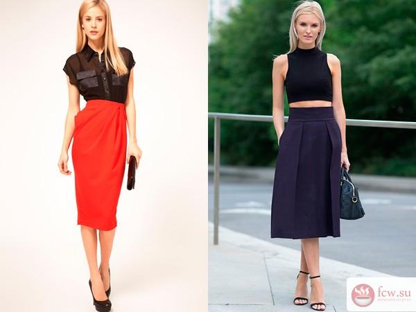 Модели одежды юбки