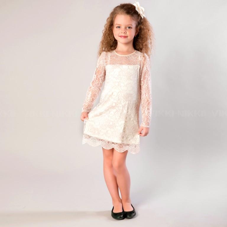 Платья для девочек из кружева купить