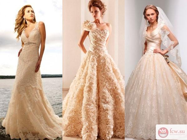 Оттенок белого свадебного платья