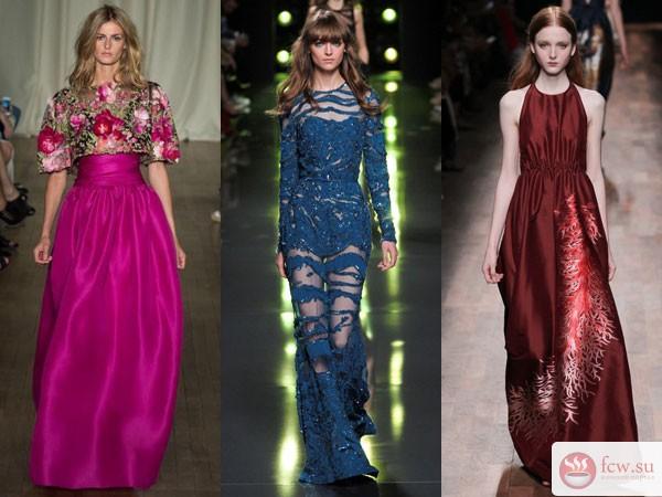 fdcec29fad501cc Вечерние платья 2015 представлены дизайнерами в ярких и сочных тонах.  Самыми востребованными цветами, считается ярко-синий, голубой, рыжий,  шоколадный, ...