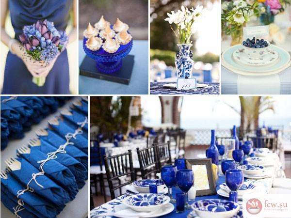 Цвет свадьбы голубой
